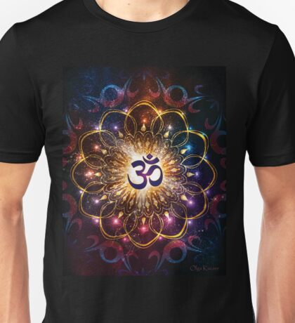 """The higher power of Om"" - sacred geometry Unisex T-Shirt"