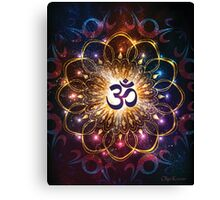"""""""The higher power of Om"""" - sacred geometry Canvas Print"""