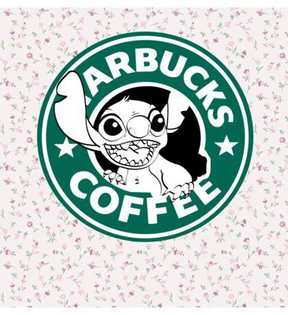 Stitch Floral Coffee Sticker
