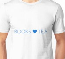 Books Tea (All Blue) Unisex T-Shirt