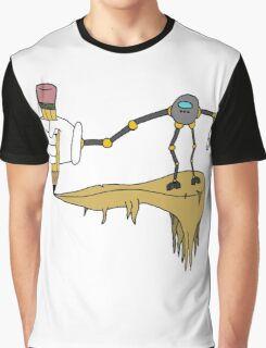 The Artistic Robot (Gray) Graphic T-Shirt