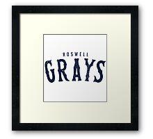 ROSWELL GRAYS Framed Print