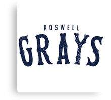 ROSWELL GRAYS Canvas Print