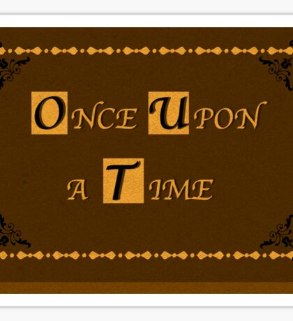 Once Upon A Time - Fairytale Book Sticker