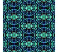 Blue & Green Matrix Web Photographic Print