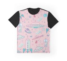 Galaxy Babe Pattern Graphic T-Shirt
