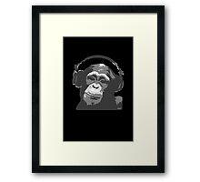 DJ Monkey Framed Print