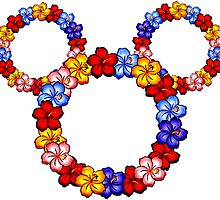Floral Mickey Ears by luigiunicorn