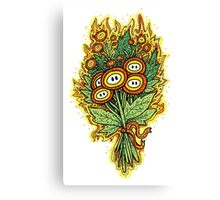 Fire Flower Bouquet Canvas Print