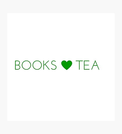 Books Tea (All Green) Photographic Print