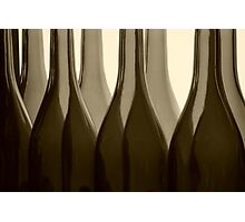 Wine Bottles in Sepia Photographic Print