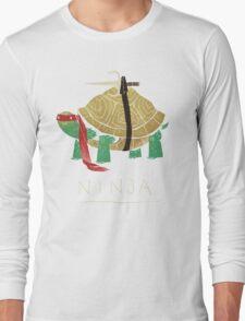 ninja - red Long Sleeve T-Shirt