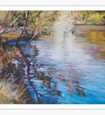 'Swirls & Ripples - Goulburn River' Sticker
