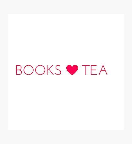 Books Tea (All Pink) Photographic Print
