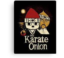 the karate onion Canvas Print