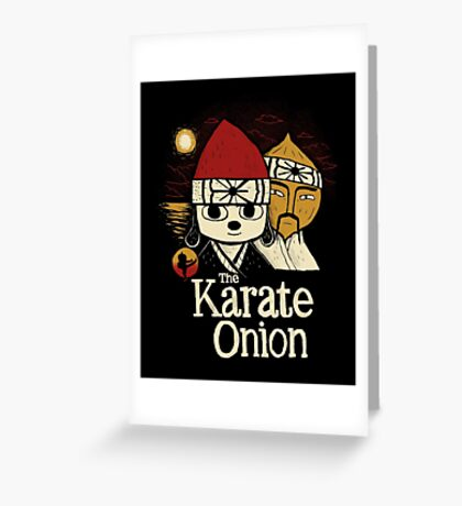 the karate onion Greeting Card