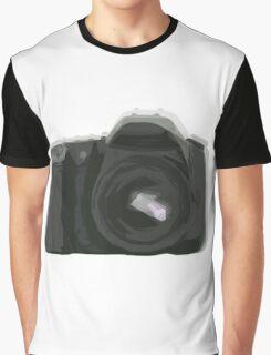 Geometric Camera Graphic T-Shirt