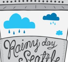 Rainy Day Seattle Sticker