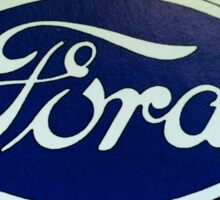 Old Retro Ford Logo Sticker