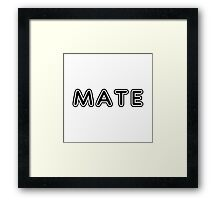 """Mate (Matches with """"Soul"""") Framed Print"""