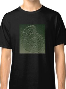 Ammonite Fossil Dark Grey Green Classic T-Shirt