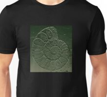 Ammonite Fossil Dark Grey Green Unisex T-Shirt