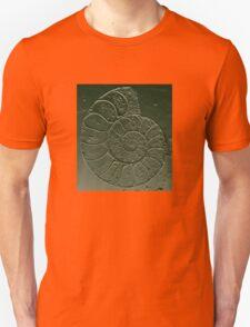 Ammonite Fossil Dark Grey Green Unisex T-Shirt