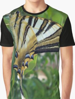 Swallowtail With Partially Closed Wings Side View Graphic T-Shirt