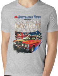 Ford Falcon XY GTHO Phase III (nostalgic) © Mens V-Neck T-Shirt