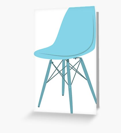 Ray & Charles Eames Side Chair Classic Design Greeting Card