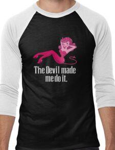 The Devil Made Me Do It Men's Baseball ¾ T-Shirt
