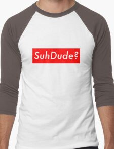 SuhDude Sticker (Preme x Getter) Men's Baseball ¾ T-Shirt