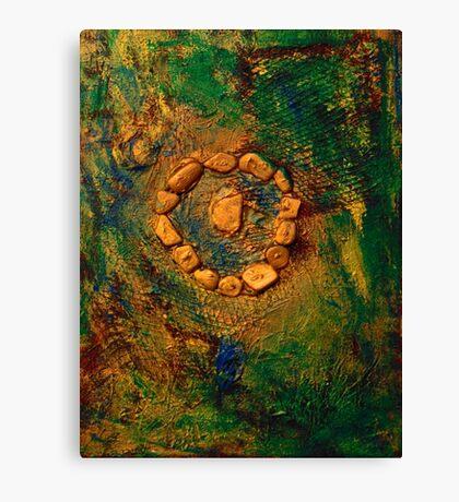 Circle of Stone Canvas Print