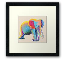 Elephant Water Color Framed Print