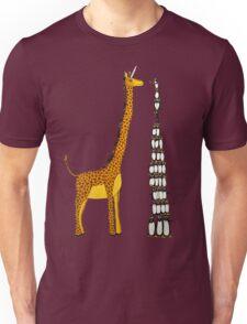 Who is Taller Unicorn Giraffe or Penguin? Unisex T-Shirt