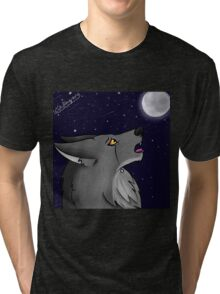 Tears of the Howling Wolf Tri-blend T-Shirt
