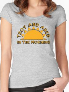 Community - Troy and Abed in the morning Women's Fitted Scoop T-Shirt