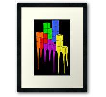 Tetris Melt Framed Print
