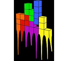 Tetris Melt Photographic Print