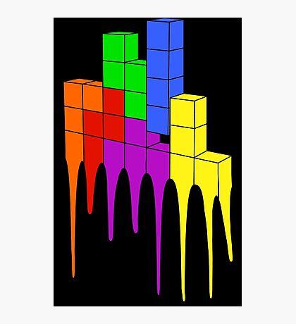 Tetris Melt Photographic Print