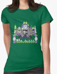 Is This Small World Actually Stretching? (for Darker Rides) Womens Fitted T-Shirt