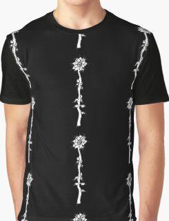 """Solus Florum"" {Black & White} Graphic T-Shirt"