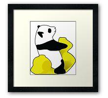 Rocking Panda Framed Print
