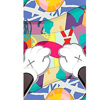 kaws paws 2 mickey   Photographic Print