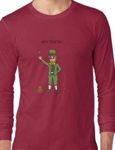 Leprechaun, Happy St. Patrick's Day! Long Sleeve T-Shirt
