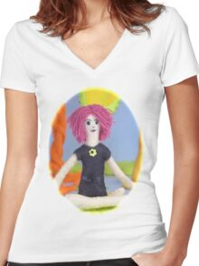 The Moment to Breathe Women's Fitted V-Neck T-Shirt