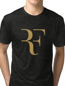 Roger Federer gold Tri-blend T-Shirt