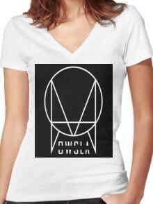 major lazer simple logo Women's Fitted V-Neck T-Shirt