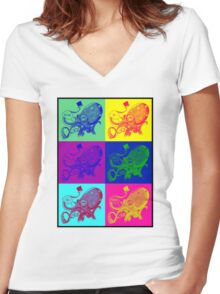 Greetings Women's Fitted V-Neck T-Shirt