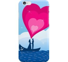 Enamoured in a boat iPhone Case/Skin